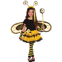 Girls Bumblebee Fairy Costume