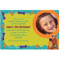 Scooby-Doo Where Are You! Custom Photo Invitation
