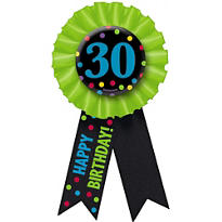 30th Birthday Award Ribbon