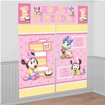 Minnie Mouse 1st Birthday Scene Setter