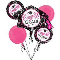 Sparkling Graduation Balloon Bouquet 6pc