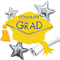 Yellow Star Graduation Cap Graduation Balloon