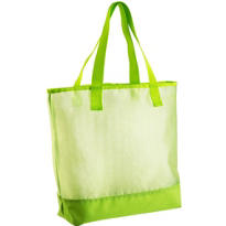 Kiwi Green Mesh Beach Tote