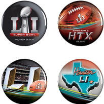 Super Bowl Buttons 4ct