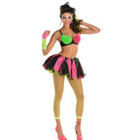 Adult Rave 80s Costume