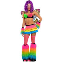 Adult Electric Rainbow Raver Costume
