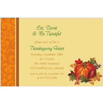 Bountiful Holiday Custom Invitation