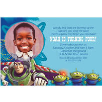 Toy Story Power Up Custom Photo Invitation