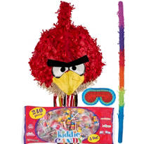 Pull String Angry Birds Red Bird Pinata Kit