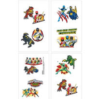 Power Rangers Tattoos 16ct
