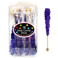 Purple Rock Candy Sticks 18pc