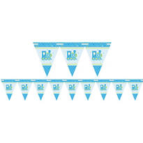 Boy Welcome Baby Pennant Banner - Welcome Little One