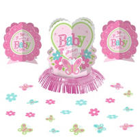 Girl Baby Shower Table Decorating Kit 23pc - Pink Little One