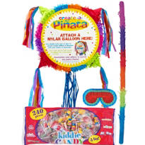 Pull String Add-a-Balloon Multicolor Pinata Kit