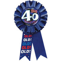 Oh No the Big 40 Award Ribbon