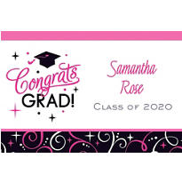 Custom Sparkling Grad Thank You Notes