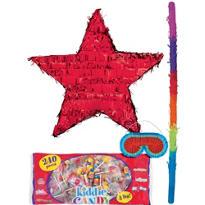 Foil Red Star Pinata Kit