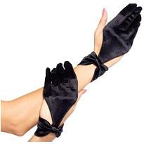 Black Bow Cutout Gloves