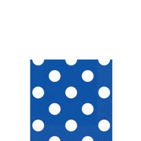 Royal Blue Polka Dot Beverage Napkins 16ct