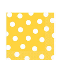 Sunshine Yellow Polka Dot Lunch Napkins 16ct