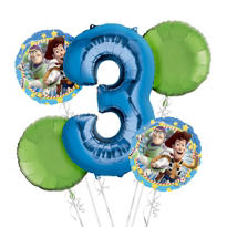 Toy Story 3rd Birthday Balloon Bouquet 5pc
