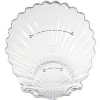 Clear Plastic Shell Platter 13 1/2in x 12 1/2in