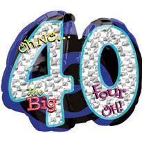 40th Birthday Balloon - Giant Oh No!