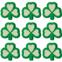 Shamrock Icing Decorations 9ct