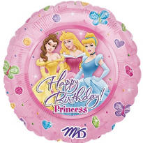 Foil Disney Princess Happy Birthday Balloon 18in