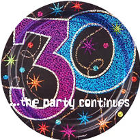 The Party Continues 30th Birthday Party Supplies
