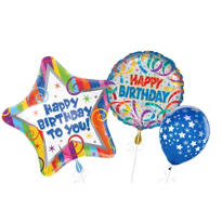 Party Streamers Birthday Balloons
