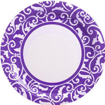 Purple Ornamental Scroll Party Supplies