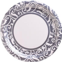 Silver Ornamental Scroll Party Supplies