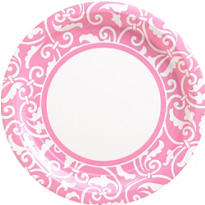 Pink Ornamental Scroll Party Supplies