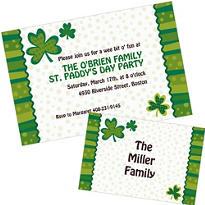 Custom St. Patrick's Day Invitations & Thank You Notes