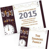 Custom New Year's Invitations & Thank You Notes