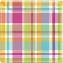Summer Plaid Party Supplies