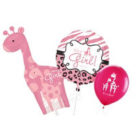 Pink Wild Safari Baby Shower Balloons