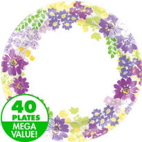 Floral Bloom Value Plates & Tableware