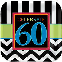 Celebrate 60th Birthday Party Supplies