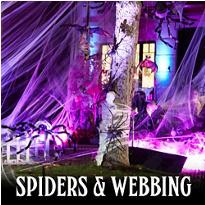 Giant Spiders & Spider Webs Halloween Decorations