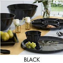Black Serving Trays, Bowls & Utensils