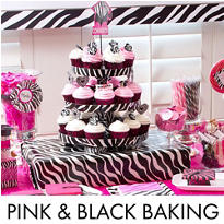 Pink & Black Graduation Baking Supplies