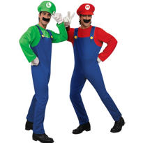Deluxe Mario and Deluxe Luigi Super Mario Brothers Couples Costumes