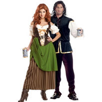 Tavern Maiden and Tavern Man Couples Costumes
