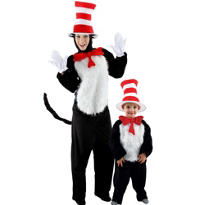 Cat in the Hat Daddy and Me Costumes