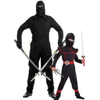 Stealthy Ninja Daddy And Me Costumes