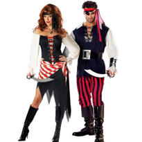 Ruby The Pirate and Cutthroat Pirate Couples Costumes