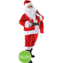 Adult Regency Plush Santa Suit Deluxe