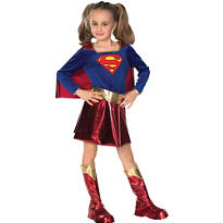 Girls Supergirl Costume Deluxe - Superman